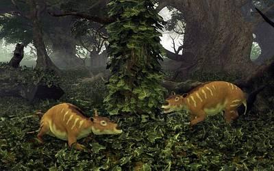 Eurohippus Prehistoric Mammals Print by Walter Myers