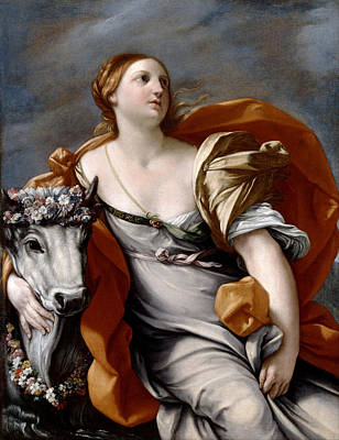 Guido Reni Painting - Europa And The Bull by Guido Reni