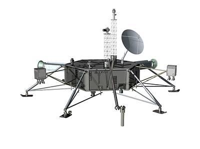 Europa Space Probe Lander Print by Claus Lunau