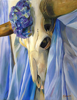 Steer Painting - Amazing Grace by Margaret Schwartz