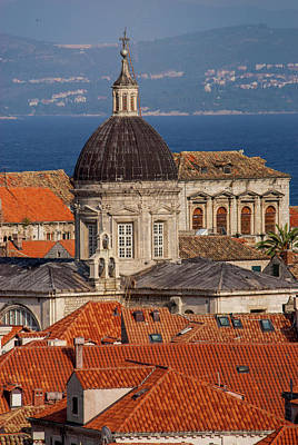 Dubrovnik Photograph - Europe, Croatia, Dubrovnik, Red Tiled by Jim Engelbrecht