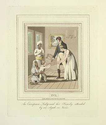 European Family Attended Print by British Library