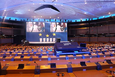 Voted Images Photograph - European Parliament Voting Room by Rumyana Whitcher
