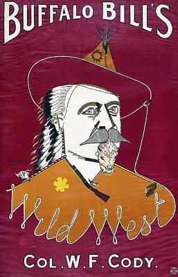 Buffalo Bill Wild West Show Announcement - 1890 Original by Daniel Hagerman