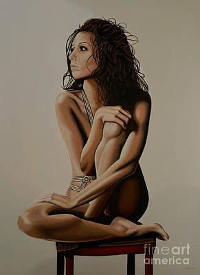 Eva Longoria Painting Print by Paul Meijering