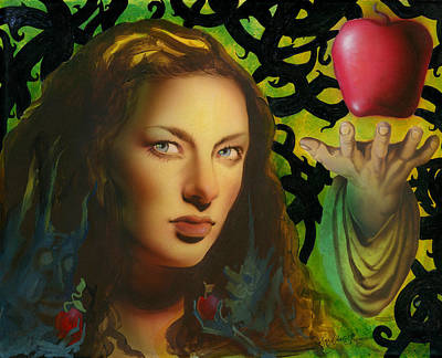 Eve And The Apple Original by Luis  Navarro