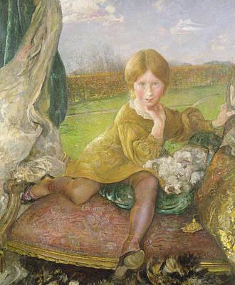 Pooch Painting - Evelyn by Annie Louisa Swynnerton