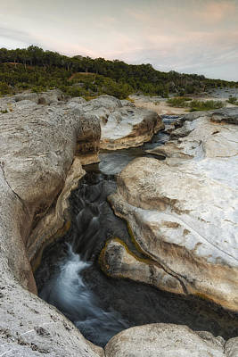 Even Flow At The Pedernales Texas Hill Country Print by Silvio Ligutti