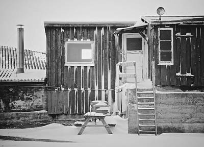 Snowbound Photograph - Even The Ghosts Have Gone by Odd Jeppesen