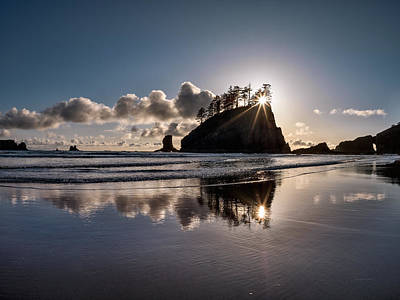 Best Ocean Photograph - Evening At Second Beach by Leland D Howard