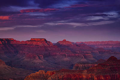 Evening At The Grand Canyon Print by Andrew Soundarajan