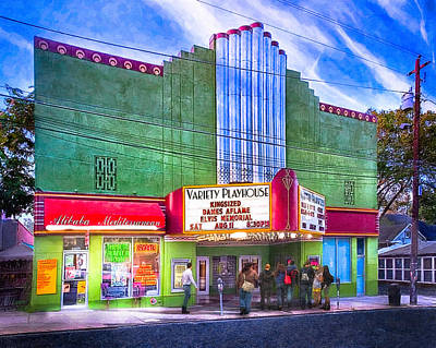 Evening At The Variety Playhouse - Atlanta Print by Mark E Tisdale