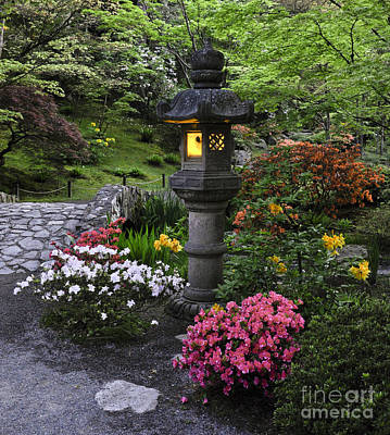 Seattle Photograph - Evening Glow In The Japanese Garden by Camille Lyver