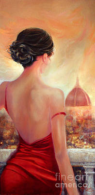 Updo Painting - Evening In Florence by Michael Rock