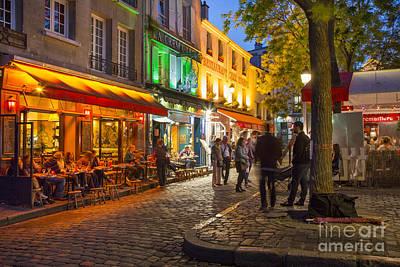 Evening In Montmartre Print by Brian Jannsen