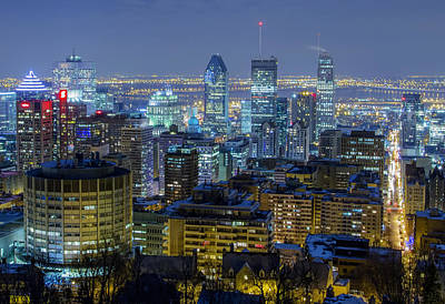 Montreal Cityscapes Photograph - Evening In Montreal by Mountain Dreams