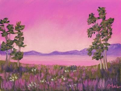 Mountain Painting - Evening In Pink by Anastasiya Malakhova