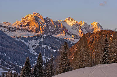 Evening In The Alps Print by Martin Capek