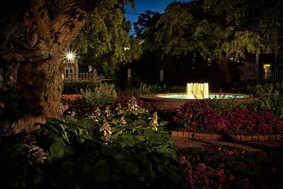 Evening In The Garden Prescott Park Gardens At Night Print by Jeff Sinon