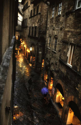 Adele Digital Art - Evening In Volterra by Adele Buttolph