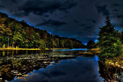 Aspens Photograph - Evening Light On Bald Mountain Pond by David Patterson