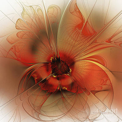 Abstraction Digital Art - Evening Queen by Karin Kuhlmann