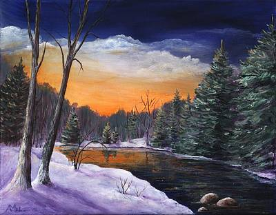 Big Drawing - Evening Reflection by Anastasiya Malakhova