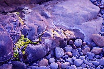 Ocean Photograph - Evening Rock Formations by Priya Ghose