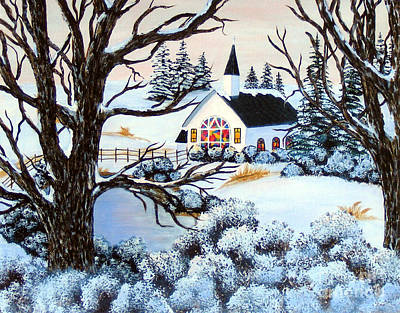 Painting - Evening Services by Barbara Griffin