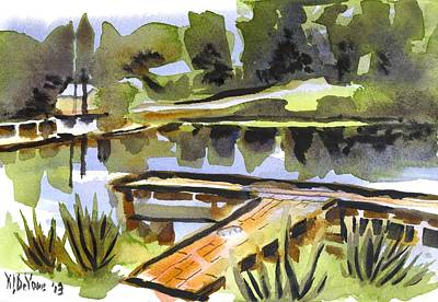 Arcadia Valley Painting - Evening Shadows At Shepherd Mountain Lake by Kip DeVore