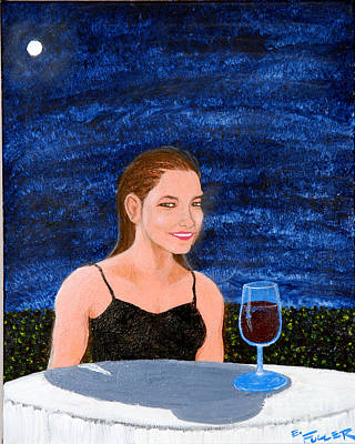 Table Cloth Painting - Evening Sherry by Edward Fuller