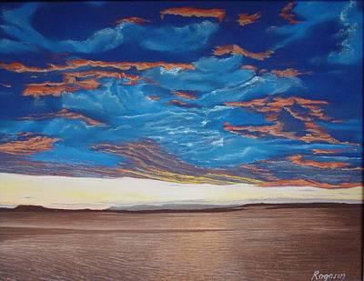Evening Sky Print by Harvey Rogosin