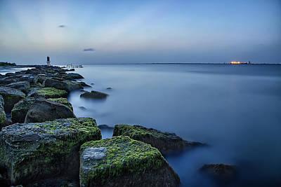 Galveston Photograph - Evening Stillness by Thomas Zimmerman