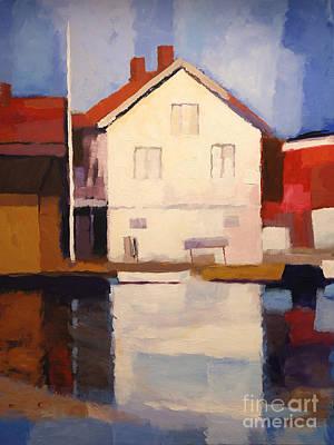 Baar Painting - Evening Sun by Lutz Baar