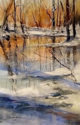 Evening Thaw Original by Sandra Strohschein