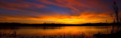 Everglades Sunset Panorama Print by Mark Andrew Thomas