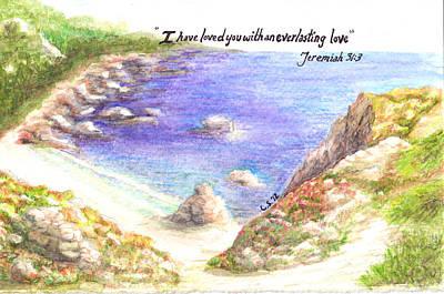 Colored Pencil Painting - Everlasting Love by Catherine Saldana