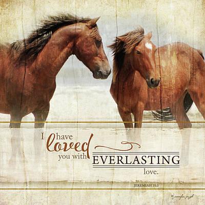 Inspirational Painting - Everlasting Love by Jennifer Pugh