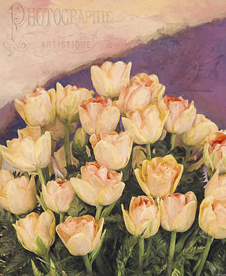 Tulip Festival Painting - Every Artist - Vintage Flower Art by Jordan Blackstone