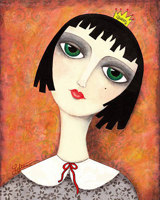 Hairdo Mixed Media - Everybody Wants To Be Queen by Joann Loftus
