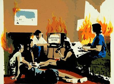 Everything Is Fine Print by David Honaker