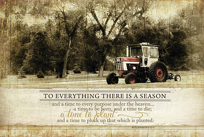 Inspirational Painting - Everything There Is A Season by Jennifer Pugh