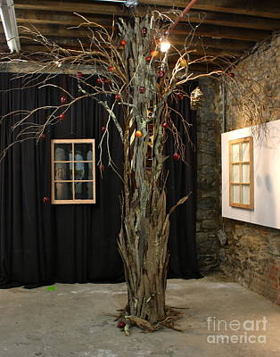 Instillation Mixed Media - Eve's Urban Garden by Myra Kooy