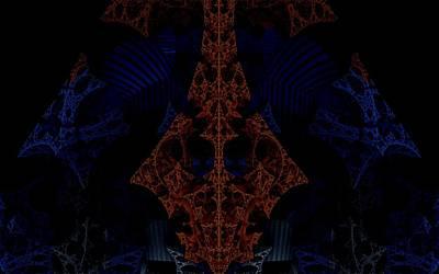 Evil Lurks In The Darkness Print by Ricky Jarnagin