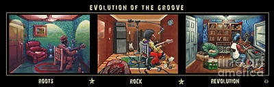 Black History Painting - Evolution Of The Groove by Keith Shepherd