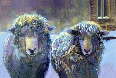 Ewe And Me 2 Print by Cindy McIntyre