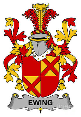 Ewing Coat Of Arms Irish Print by Heraldry
