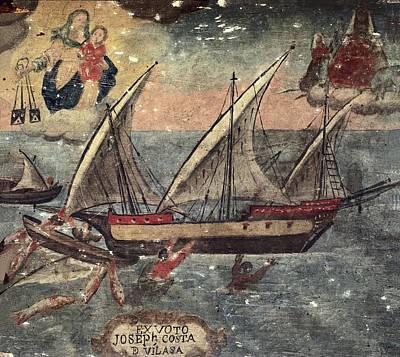 Ex Voto Of Sailor Joseph Costa De Print by Everett