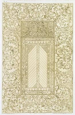 Mosaics Drawing - Example Of A Turkish Chimney by Jean Francois Albanis de Beaumont