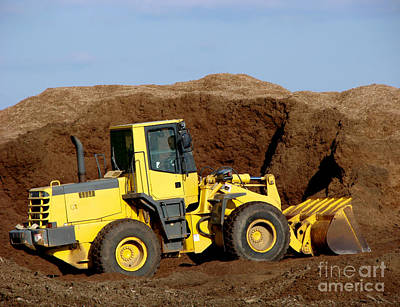 Excavation  Print by Olivier Le Queinec